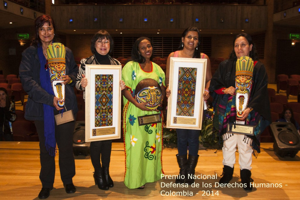 MR-pristagare år 2014. Foto:   Diakonia Colombia